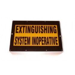 "Weatherproof Warning Sign - ""System Inoperative"" - Complete"