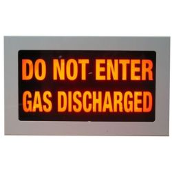 """Warning Sign - """"DO NOT ENTER GAS DISCHARGED"""""""