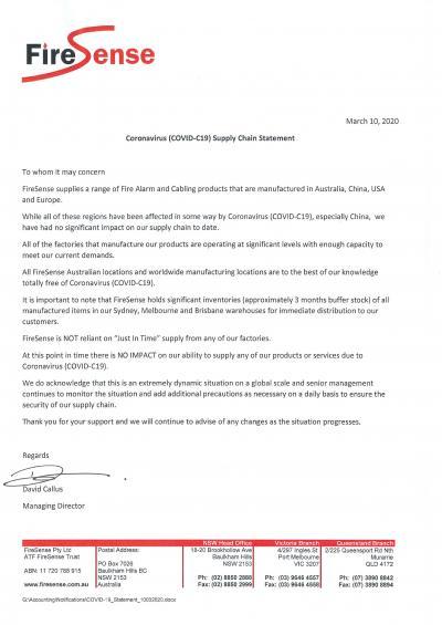 FireSense - COVID-19 Response